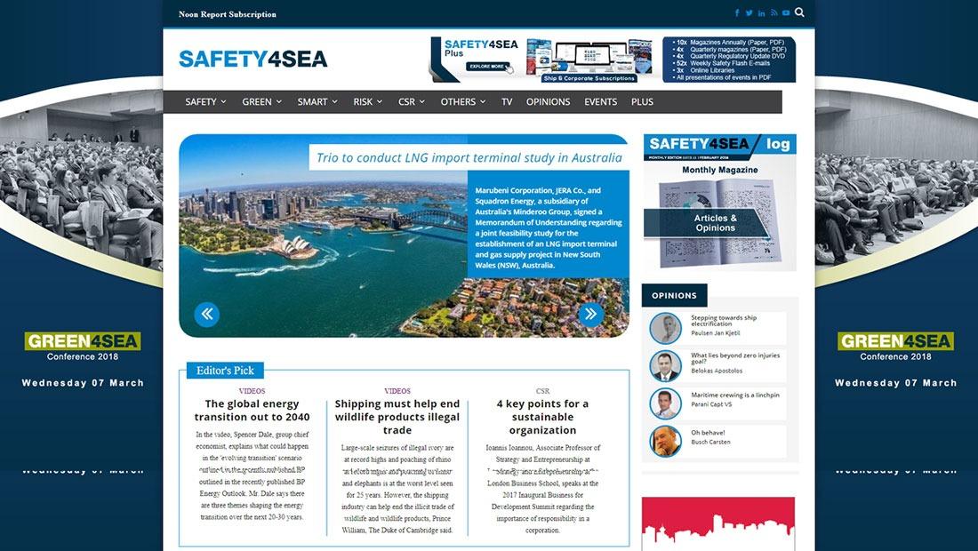 Ειδησεογραφικός ιστότοπος safety4sea για τη ναυτιλία