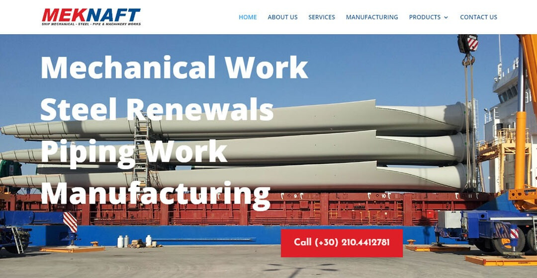General Ship Repairs website for meknaft.gr