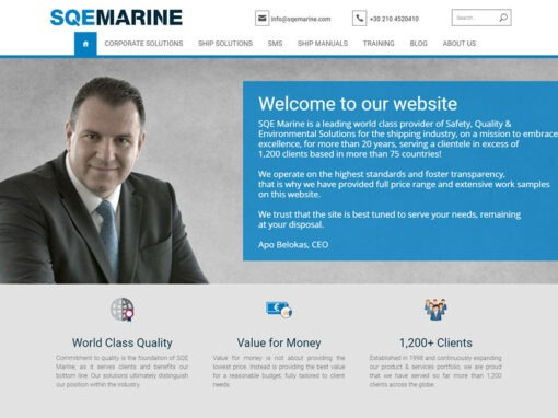 Corporate portal for SQE Marine